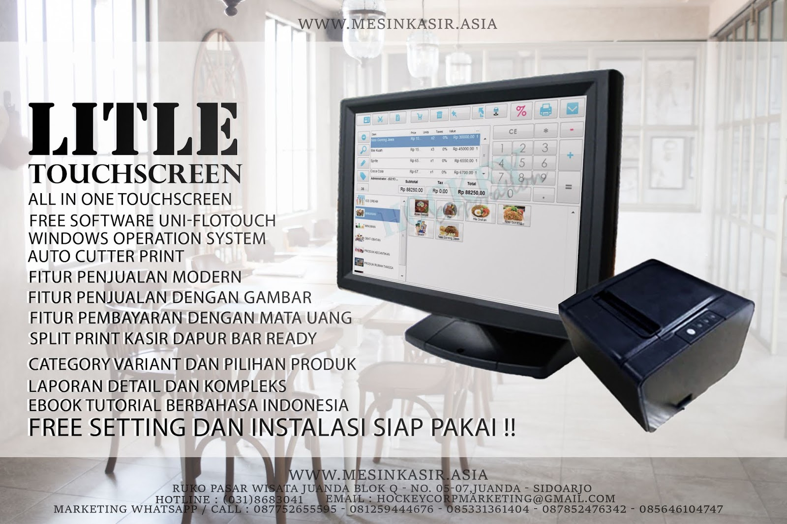 terbaru mesin kasir touchscreen all in one