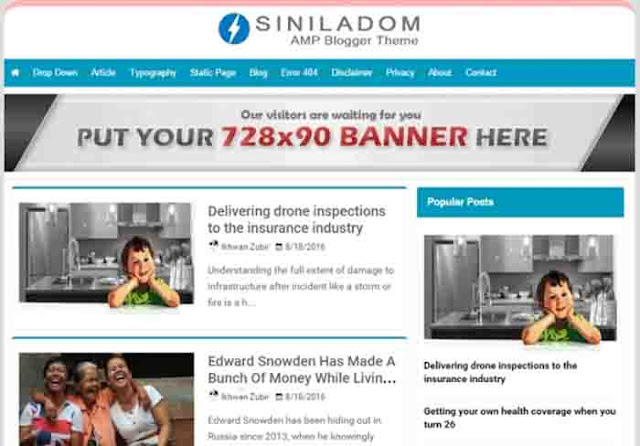 Sinildom AMP Blogger template free download