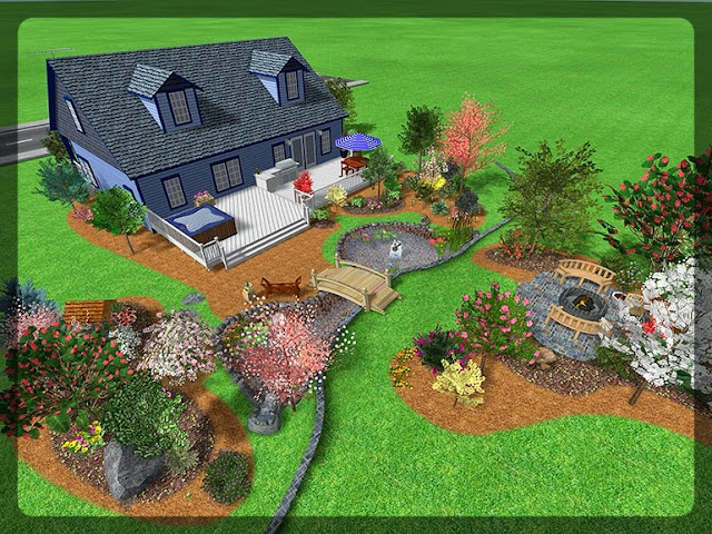 3D Plan Home Garden Design Ideas 3