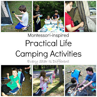 Montessori Practical Life Camping Activities