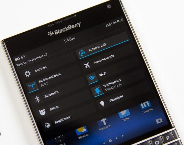 quick setting blackberry 10.3.1