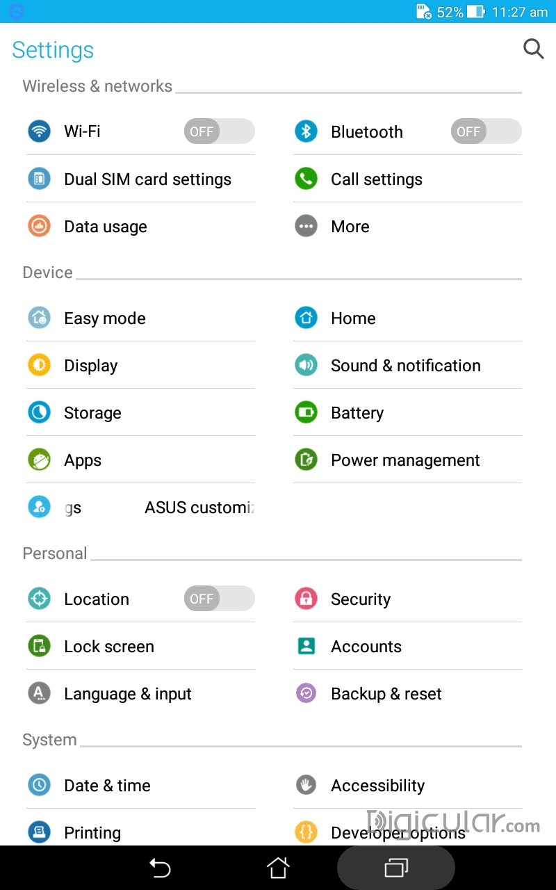 Asus FonePad ME175cg Lollipop update ZenUI Overview - Digicular