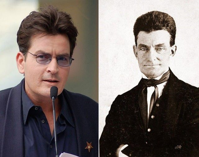 Charlie Sheen and John Brown