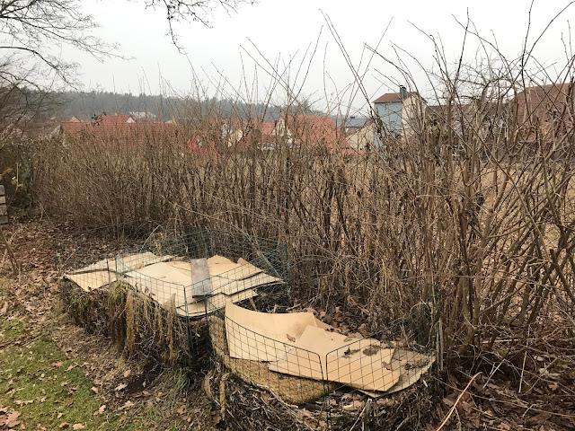 der Kompost muß verteilt und die Haselhecke geschnitten werden  (c) by Joachim Wenk