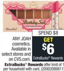 FREE JOAH Mascara or Lip Liner at CVS - 5/12-5/18