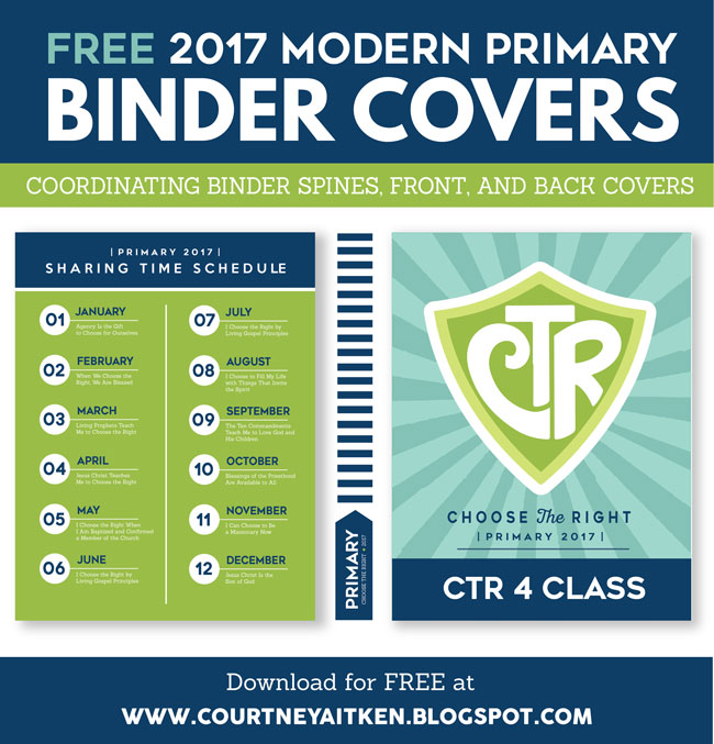 2017 LDS Primary Theme Binder