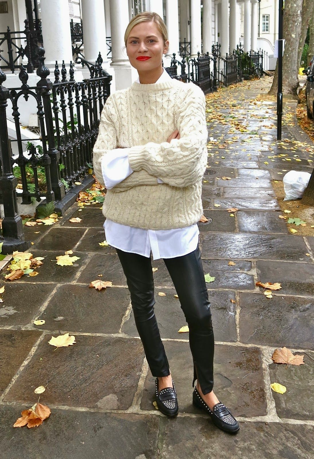 An Incredibly Stylish Way to Wear a Cable Knit Sweater — Pandora Sykes Style
