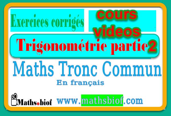trigonometrie partie 2 tronc commun trigonométrie 2eme partie calcul trigonométrique partie 2 calcul trigonométrique partie 2 tronc commun trigonometrie partie 2 trigonométrie 2 tronc commun