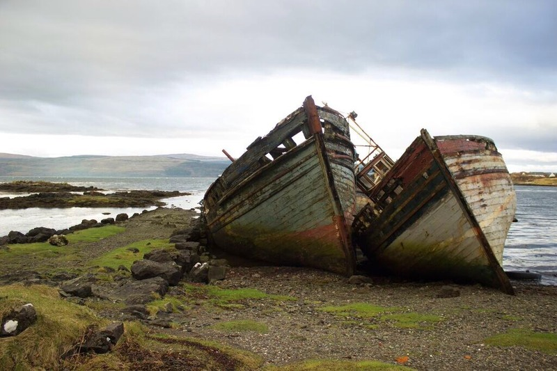 boats in salen isle of mull