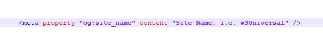 open graph site name meta tag