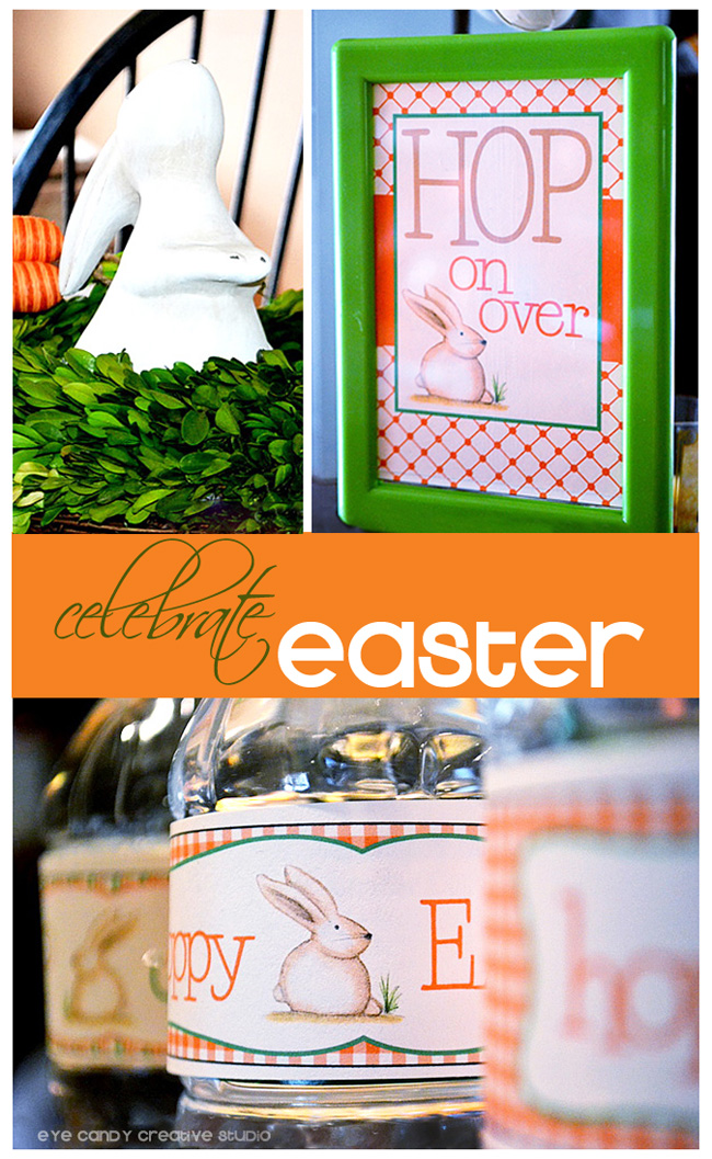 hop on over. hoppy easter, real party, celebrate easter, easter bunny
