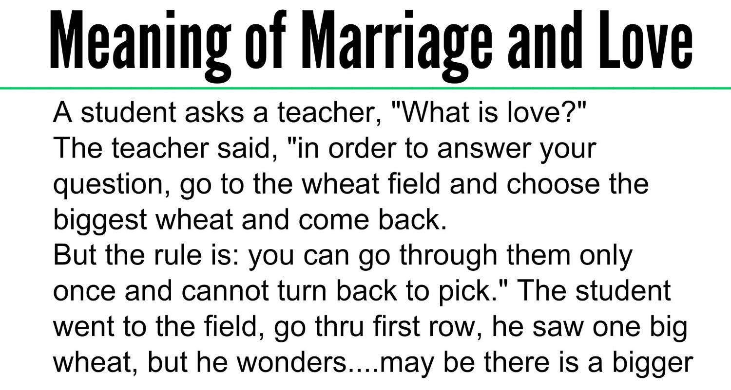 Meaning of Marriage and Love - photo#2