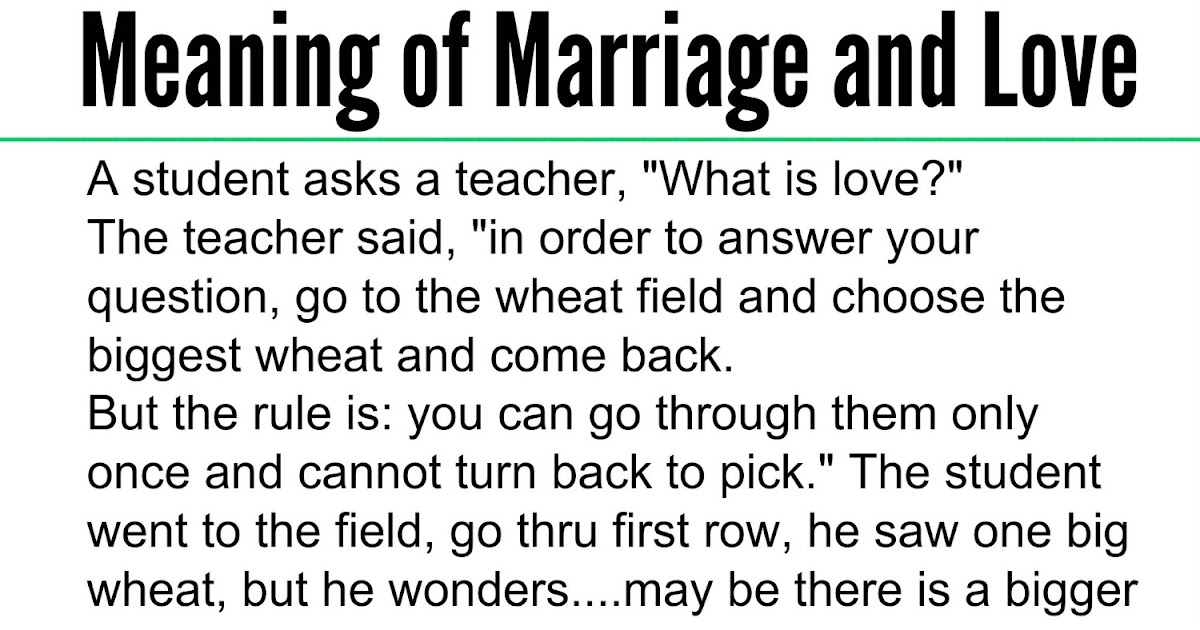 Beautiful Quotes: Meaning Of Marriage And Love