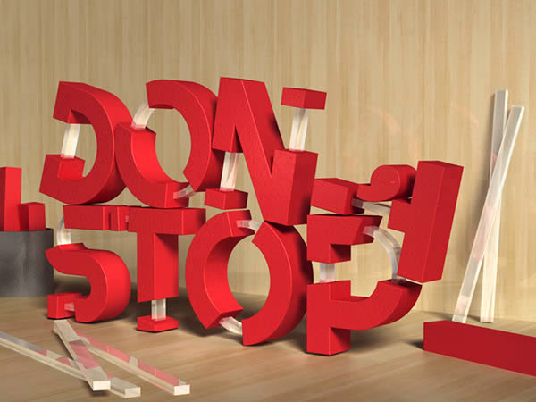 Create 3D Rubber and Glass Text in Photoshop CS6