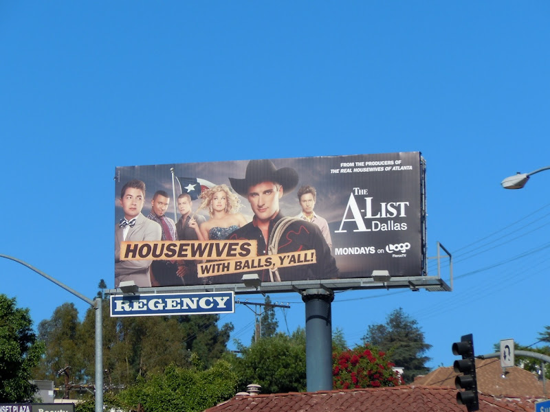 The A-List Dallas Logo billboard