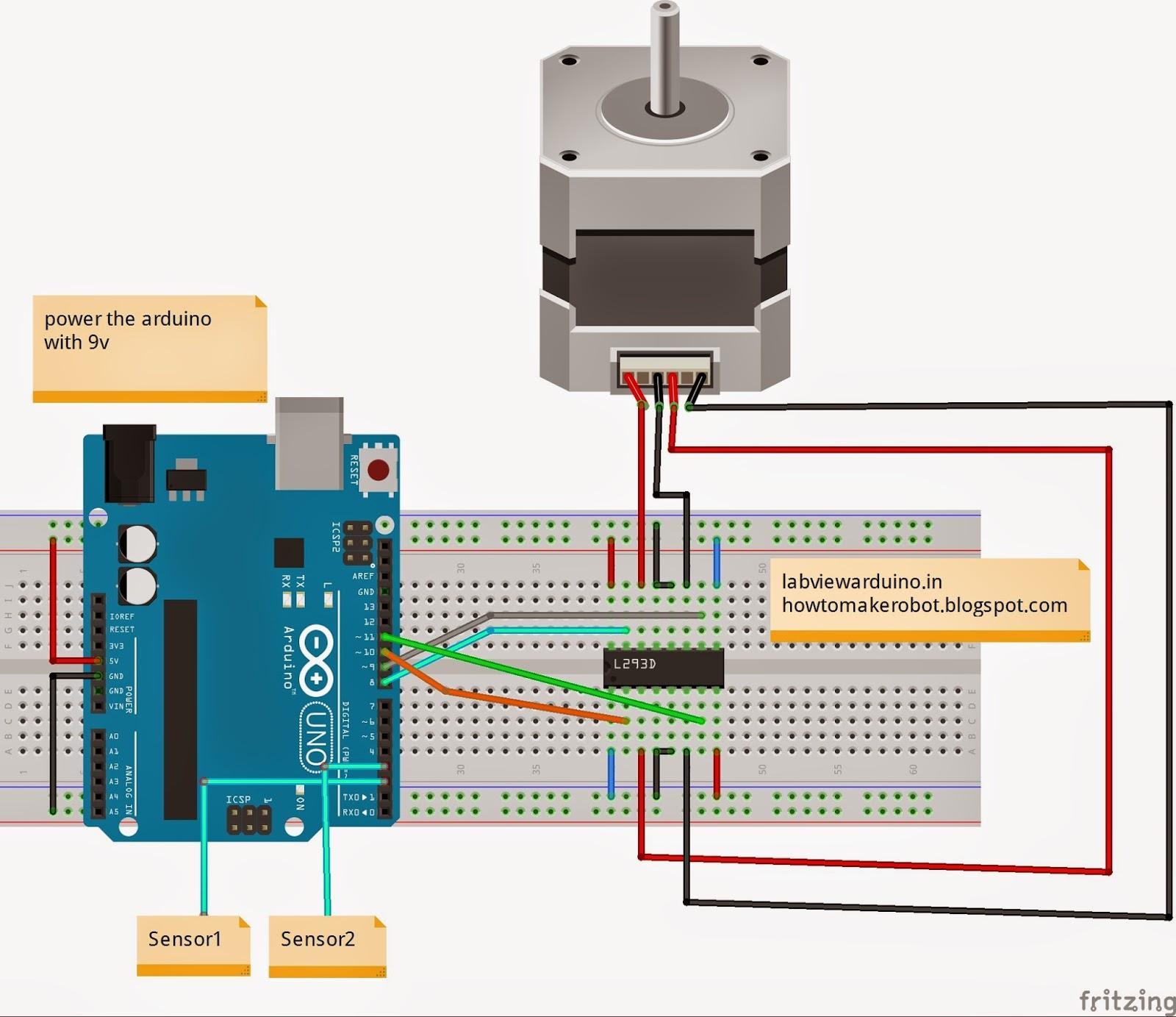 L293d Motor Driver Circuit Diagram 2016 Ford F150 Wiring Manual Original Controlling Stepper With Arduino Impremedia
