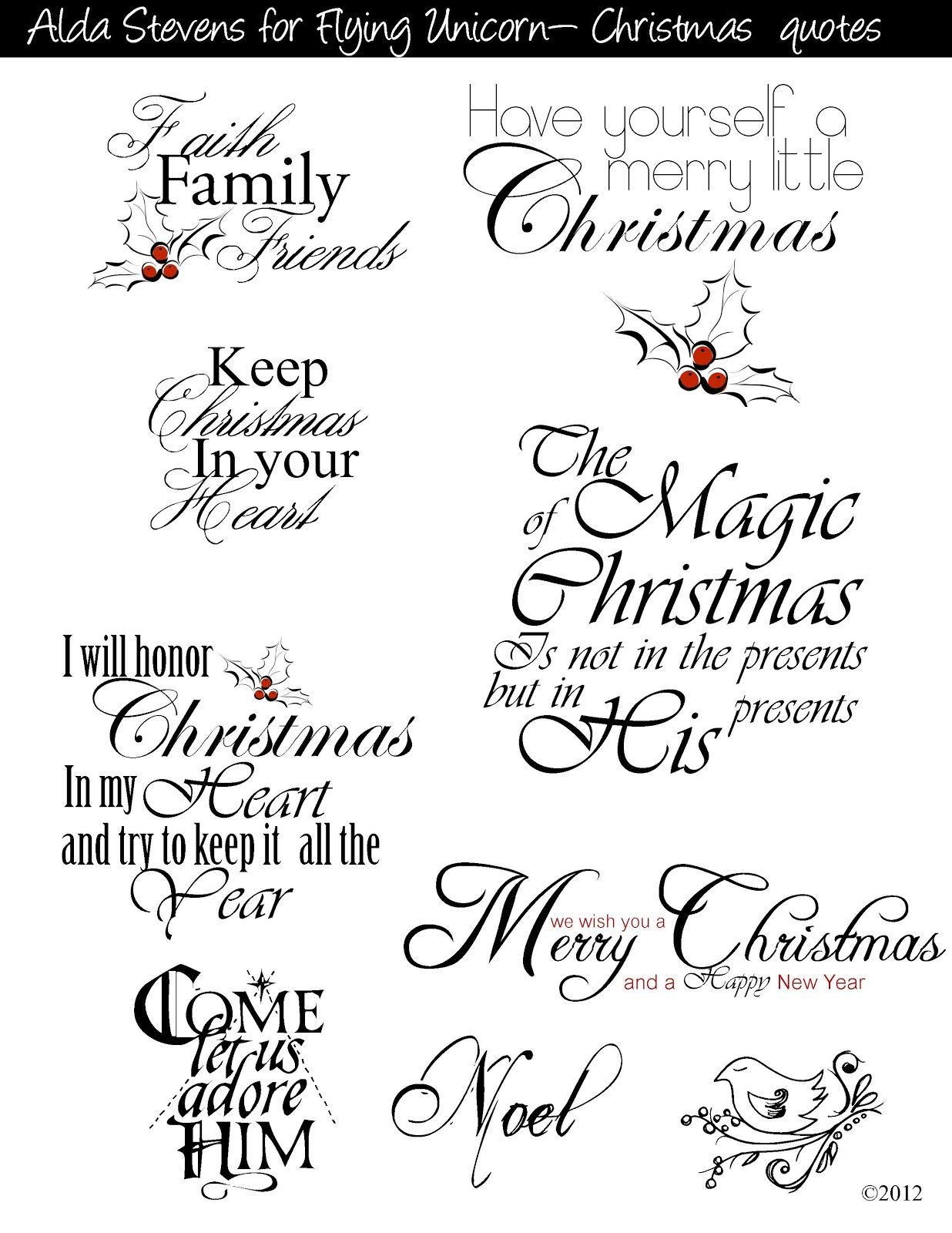 Flying Unicorn Christmas Tags With Digi Goo S