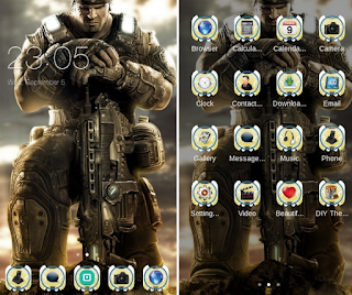 Download Tema Android Gears of War 3