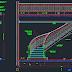 مخطط مقاطع سلالم منحنية اوتوكاد dwg
