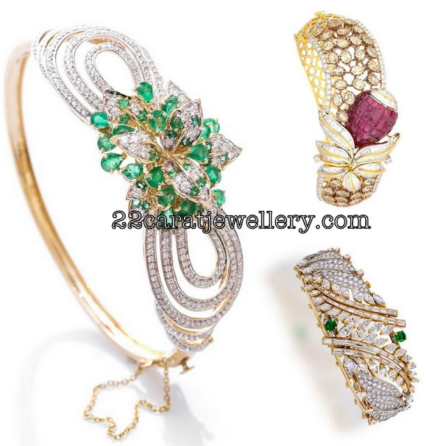 Fancy Diamond Kada Braclets