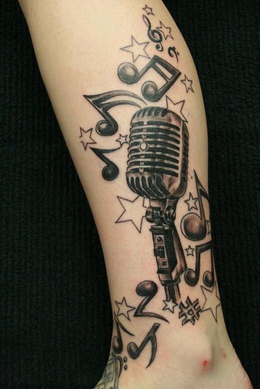 tatuaje de microfono fotos de tatuajes. Black Bedroom Furniture Sets. Home Design Ideas