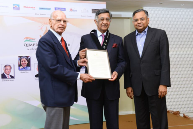 Baba N Kalyani conferred with Qimpro Platinum Standard 2016 Business Award