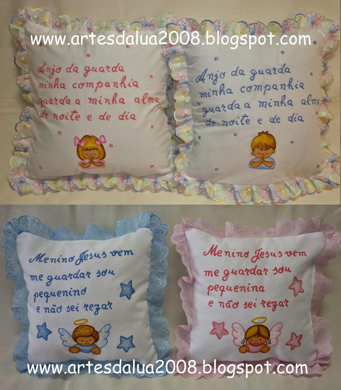 2eda3ba3b Artes da lua- enxoval para bébé pintado à mão  Almofadas- refª 213