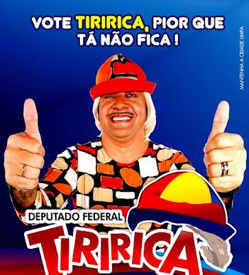 Tiririca devia ser cassado por ter mentido aos seus eleitores