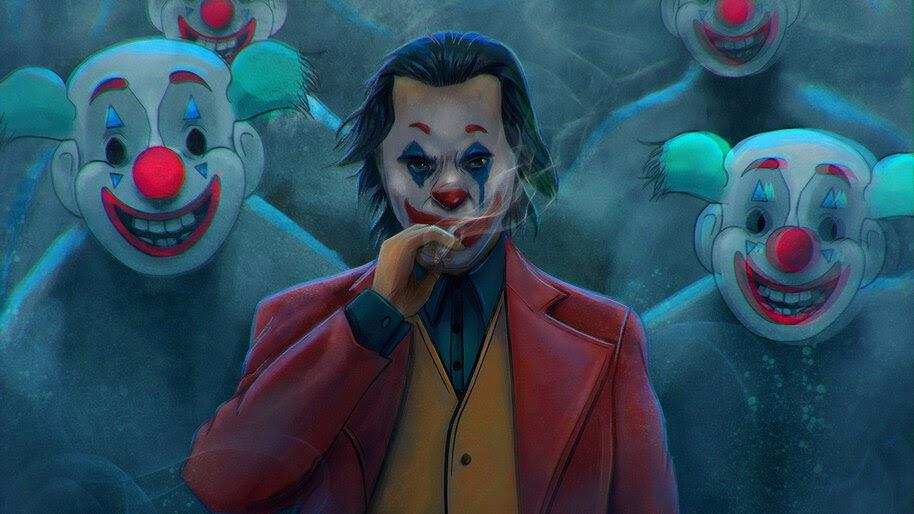 Joker Smoking Wallpaper 1920x1080