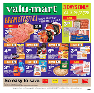Bruno's valu mart flyer