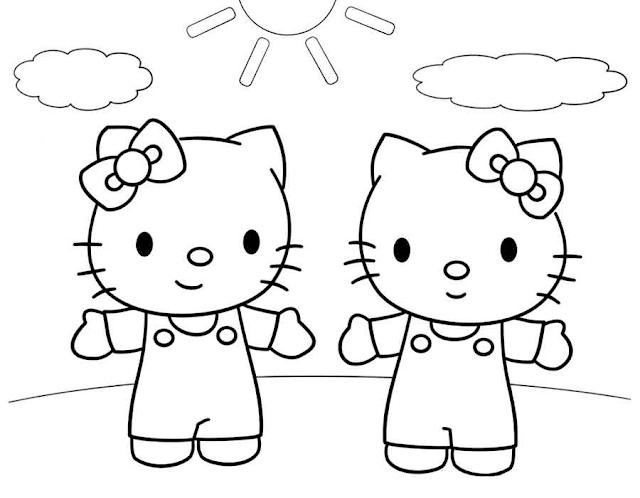 Gambar Mewarnai Hello Kitty - 6