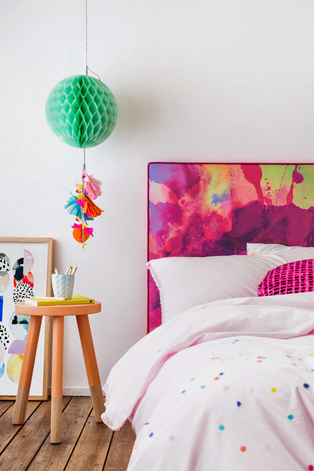 | Watercolour bedheads for kid's bedrooms