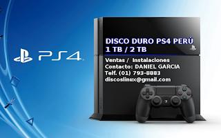 Disco duro para PS4 en Lima Peru