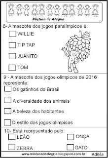Simulado de história sobre jogos olímpicos