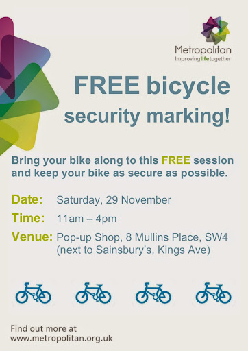 Free bike security marking poster on lambethcyclists.org.uk