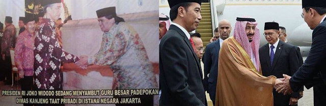 Persamaan Antara Salaman Jokowi dengan Dimas Kanjeng dan Raja Salman dengan Ahok