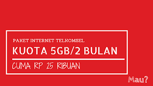 Paket Flash Rahasia Telkomsel 5GB cuma 25 ribu Selama 2 Bulan