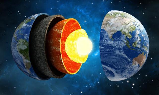 Ilustração perfeita de como seriam as camadas do globo