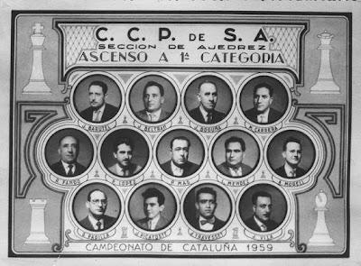Equipo del Casal Católico de Sant Andreu en 1959