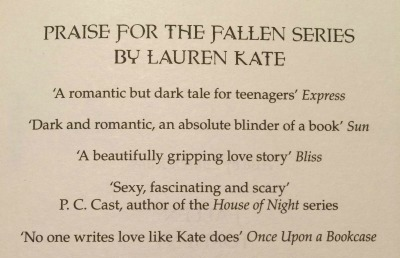Quote in Fallen in Love by Lauren Kate
