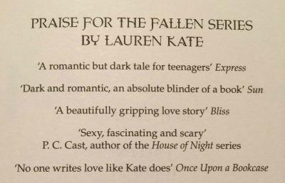 Quote in Fallen in Love by Lauren Kate