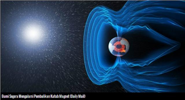 Kutub Magnet Segera Berbalik, Kehidupan Bumi Terancam