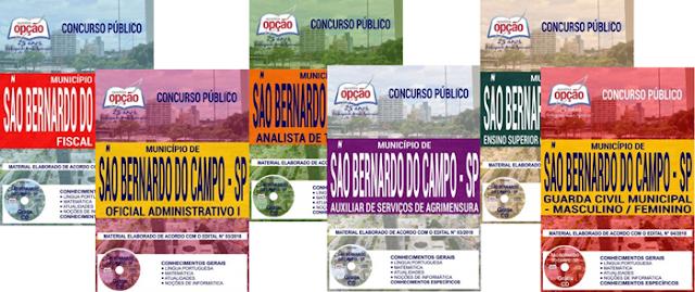 Apostila para Concursos Prefeitura de São Bernardo do Campo 2018