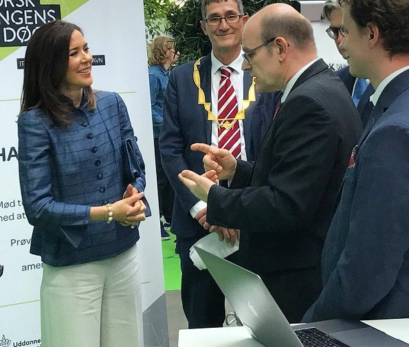 Crown Princess Mary opened The 2018 Danish Science Festival at the IT University of Copenhagen. The Danish Science Festival takes place in April