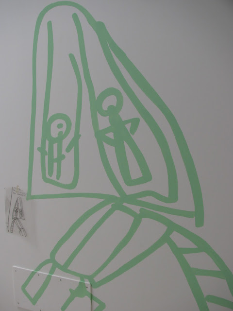photo of: Reggio Emilia enlarged mural from child's drawing