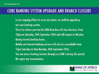 Boa core banking system upgrade notice