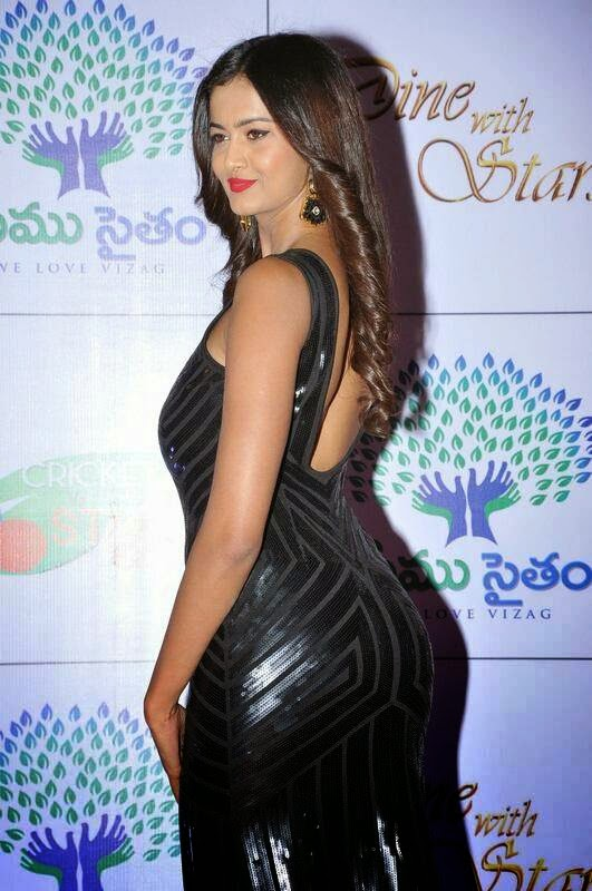 Shubra Aiyappa Photoshoot Stills, Shubra Aiyappa hot Pics in Black Tight Dress - Indian Kim Kardashian