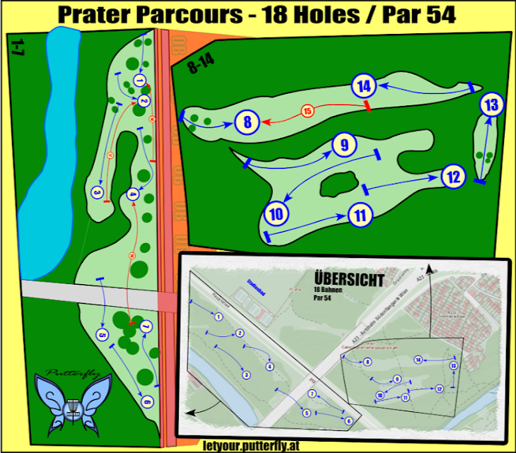 Disc Golf Parcoursplan Prater by Putterfly
