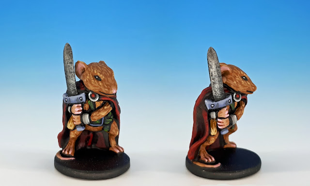 Prince Collin painted miniature for Mice and Mystics