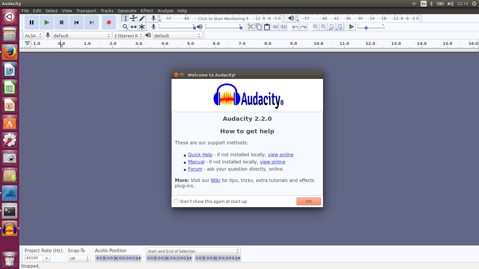 how to install program on ubuntu how to install audacity 2 2 0 via